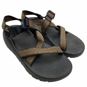 Chaco Z/1 Sandals Men's Size 11 Brown Spiral Straps Black Vibram Soles