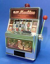 SLOTMACHINE Geld-Spielautomat in MINI-Größe mit realistischer FUNKTION  69-1228