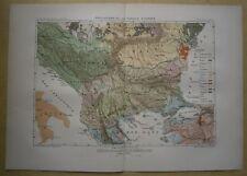 1875 Reclus map ETHNIC MAP OF BALKANS (#2)