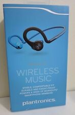 New!! Plantronics BackBeat Fit Bluetooth Sweatproof Wireless Headphones - Blue
