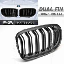 Matt Black Dual Fin Kidney Front Grille for BMW E90 E91 LCI 2009-2012 Free Clip