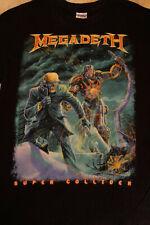 Megadeth T-shirt M Super Collider 2013 Metal Hipster KBD Ozzy Metallica Dio Skul