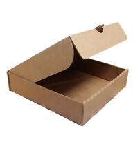 "15 X Plain Brown Pizza Takeaway Boxes, Strong Quality Postal Boxes, 7"" Inch"