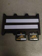 1Olympus 128 mb & 1 Fujifilm 16mb xD Digital Camera Picture Memory Card
