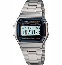 Casio Classic Men's Watch, A158WEA-1DF, Digitale, allarme crono, luce, nuovo con scatola