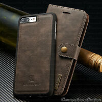 Leather Removable Wallet Magnetic Flip Card Slot Case Cover iPhone 8/7/6S Plus