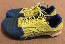Reebok CrossFit CF7 Nano Blue Yellow Athletic Shoes Mens Sz 13 Cross Fit