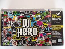 PS 3 PLAYSTATION DJ Hero Turntable Kit Mint Condition  Ships Free