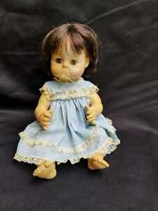 """Vintage 1965 Madame Alexander Sweet Tears 13"""" Vinyl Doll With A Pacifier"""