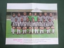 NOTTS COUNTY - FOOTBALL TEAM COLOUR PICTURE 73/74 - CLIPPING/CUTTING