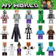 16Stk Minecraft My World Series Mini Figures Characters Building Blocks Fit Lego
