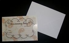 10 ANNIVERSARY PARTY *Patterned Cards with Pre-Printed Vellum Inserts+ Envelopes
