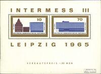 DDR Block23 Ersttagssonderstempel gestempelt 1965 Intermess III