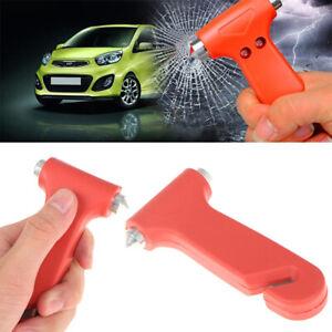 2 in 1 Car Emergency Safety Escape Hammer Glass Window Breaker Belt Cutter -*wa