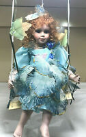 Cathay Collection Porcelain Doll Limited Edition Blue Fairy on a Swing #12/5000