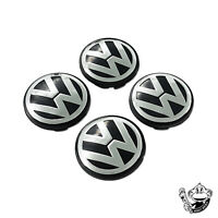 65MM ALLOY WHEEL CENTRE CAPS X4 GOLF PASSAT BORA JETTA MK6 MK5