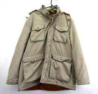 Field & Stream Great Outdoor Men's XL VTG Detachable Hood Jacket Khaki Beige
