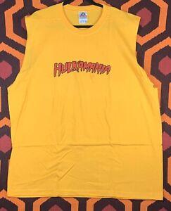 Hulkamania sleeveless T-shirt Men's XXXL AAA Preshrunk Cotton