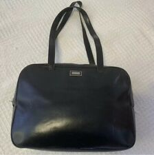 BURBERRY black all leather shoulder bag for women