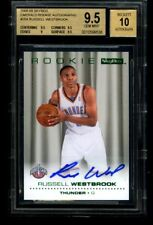 2008-09 Skybox RUSSELL WESTBROOK Rookie RC Emerald Auto Autograph BGS 9.5 10