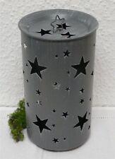 Deko-Windlichter im Landhaus-Stil mit Stern-Schliffform