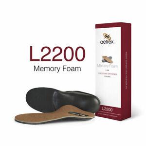 Men's Aetrex L2200 Memory Foam Orthotics Insole NIB