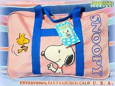 💼 TRUE VINTAGE 80'S PEANUTS SNOOPY BORSA GRANDE LARGE BAG luggage Enterprises