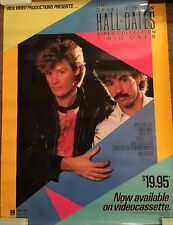 DARYL HALL & JOHN OATES VIDEO COLLECTION 7 BIG ONES PROMOTIONAL PROMO POSTER '84