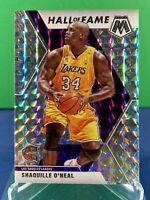 2019-20 Mosaic Shaquille O'neal Hall Of Fame Silver Wave Prizm Los Angeles Laker