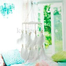Lovely Dream Catcher Kids Room Dreamcatcher With White Pearl Feather Steel Hoop
