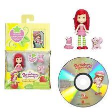 Scented Strawberry Shortcake Doll Figure PLUS Custard the Cat PLUS Bonus DVD