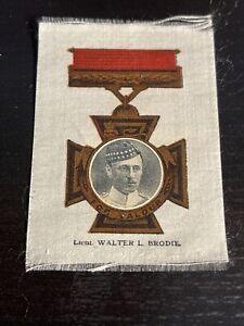 "PHILLIPS BDV WW1 SILK ""VICTORIA CROSS HEROES I"" 1915 Walter L Brodie"