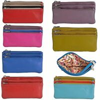 Golunski Soft Real Leather 3 Section Zipped Coin Purse In Various Colours - 0330