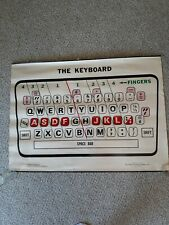 """New ListingVintage 'The Keyboard' Typewriter Poster 38"""" Wide 27 3/4"""" Tall George F Cram Co"""