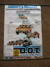 GENUINE OPEL D.O.T. RAC RALLY OF GREAT BRITAIN  POSTER  brochure connected  jm