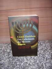 Das Geheimnis der Menora, ein Roman von Lionel Davidson