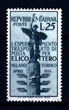 ITALIA REP. - 1954 - 1° esperimento di trasporto di posta aerea per elicottero -
