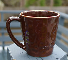 Starbucks Coffee Company Portugal 11oz 2007 Mug Cup Brown & Terricotta Dimpled