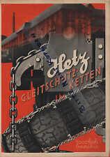 Fritz Hetz, Prospekt 1938, Spezialfabrik für Gleitschutzketten Hetz-Gummi-Ketten