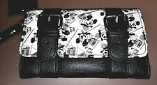 New Loungefly Disney Mickey Mouse Black And White Photo Flap Wallet Nwt