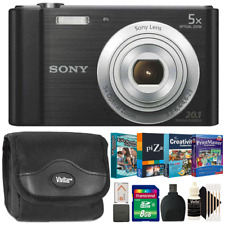 Sony CyberShot DSC W800 Silver Camera Black with Photo Editing Scrapbooking Kit