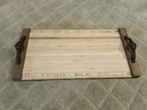 "21"" Bamboo Grilling and Serving Tray"