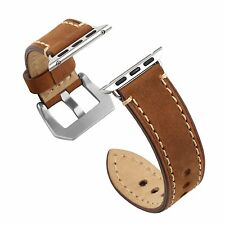 Apple Watch Band 42mm Iwatch Strap Premium Vintage Genuine Leather Sport Edition