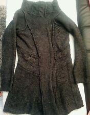 Cardigan lungo Cappottino di maglia Donna 30% Mohair tg L