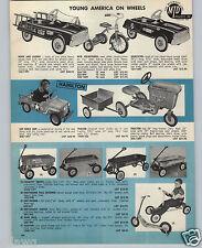 1962 PAPER AD Hamilton Pedal Car Air Force Jeep Tractor Greyhound Coaster Wagon