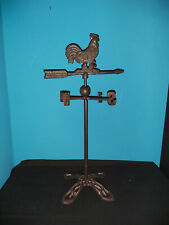 More details for cast iron freestanding weather vane in a rooster design