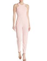 Love...Ady V-Neck Straight Leg Jumpsuit XL Blush Pink Slash Pockets
