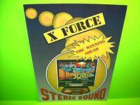 Technoplay X FORCE Original 1987 Flipper Game Pinball Machine Promo Flyer Italy