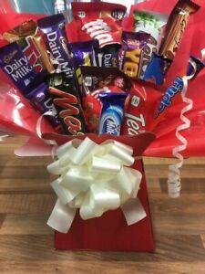 Mixed Chocolate Variety Bouquet Sweet Gift Box Hamper Cadbury Galaxy Nestle