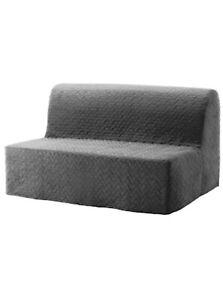 New LYCKSELE Two-seat sofa-bed cover, Vallarum Grey 403.234.18 *Brand IKEA*